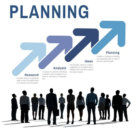 business performance: Strategy Business Planning Analysis Concept Stock Photo