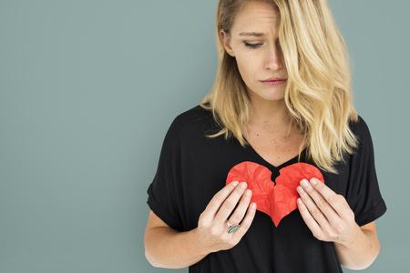 Meisje met gebroken hart Concept