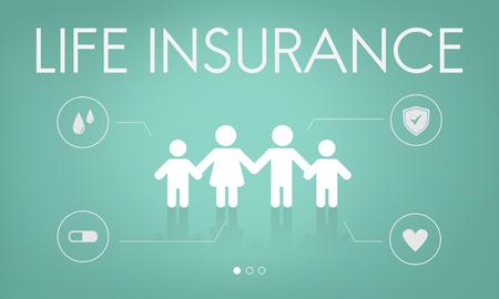 Versicherungsschutz Mix Erstattung Schutzkonzept Standard-Bild - 73442089