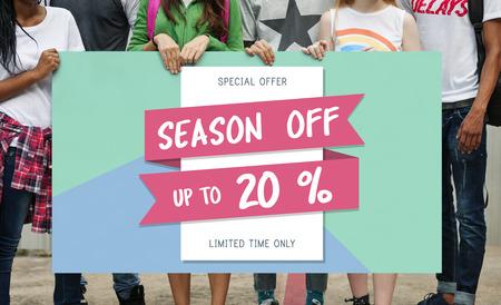 Best Sale Seasonal Offer Concept