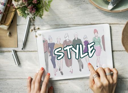 Style Trends Design de mode Classy Chic Concept Banque d'images - 73642230