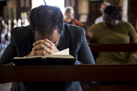 Church People Believe Faith Religious Confession Stock Photo