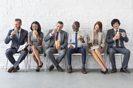 Business-Team Pause Essen Lunch-Konzept Standard-Bild