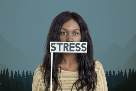 Woman with stress concept Stock Photo