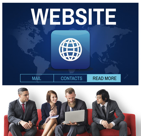 domains: Website Global Worldwide Icon Concept Stock Photo