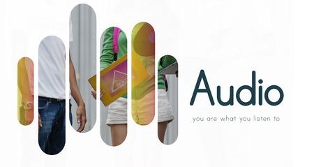 Audio Music Vinyl DJ Set Graphics Stock Photo