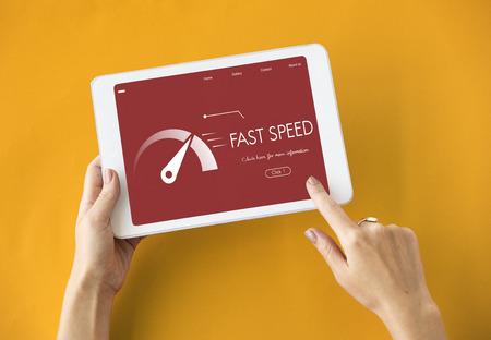 accelerate: Fast Speed Broadband Accelerate Internet Stock Photo