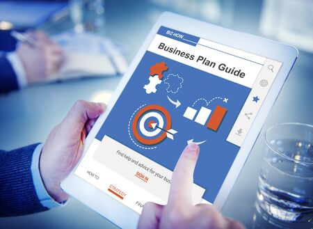 Business Corporate Plan Guide Web Interface Stock Photo