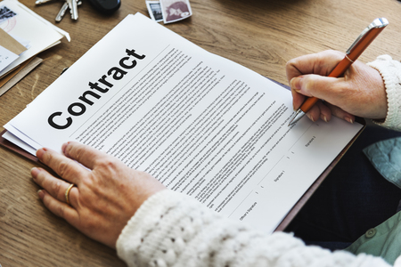 Business Contract Terms Legal Agreement Concept