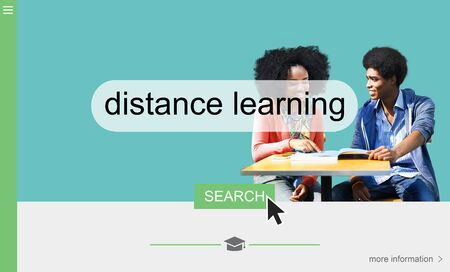 distance: Distance learning online search interface Stock Photo
