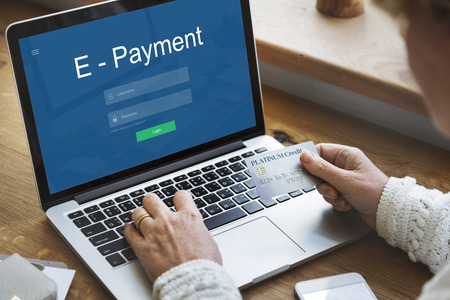 E-Payment Internet Banking Technology Concept Imagens