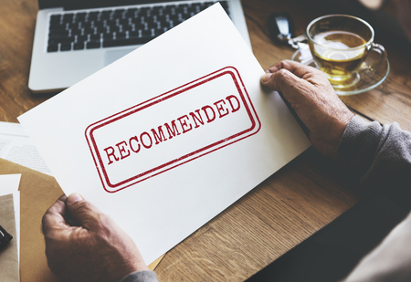 Recommended Offer Refer Satisfaction Suggestion Concept Stock Photo