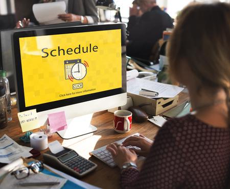 Notice Schedule Notes Imporant Task Concept 版權商用圖片