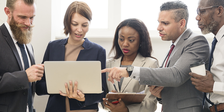 Business Team Working Research Planning Concept Stock Photo