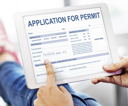 Application for Permit Form Authority Concept Stock Photo