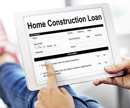 Home Construction Loan Document Form Concept Reklamní fotografie