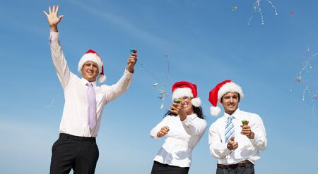 other keywords: Christmas Santa Hat Business Travel Vacations Concept