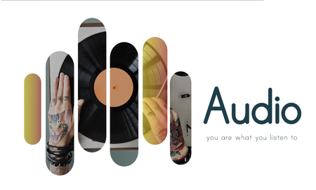 plater: Audio Music Vinyl DJ Set Graphics Stock Photo