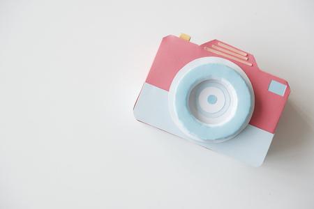 Papercraft Person Holding Camera Design