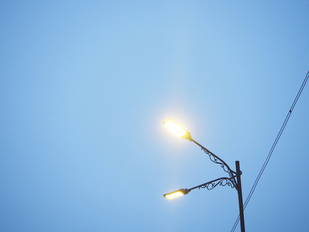 Street Light Pole Sky View Concept