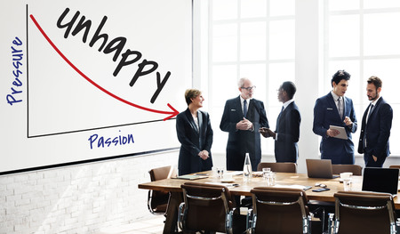 Group of people with unhappy concept Stock Photo