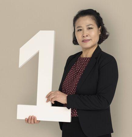 アジア ビジネス女性ナンバーワン 写真素材