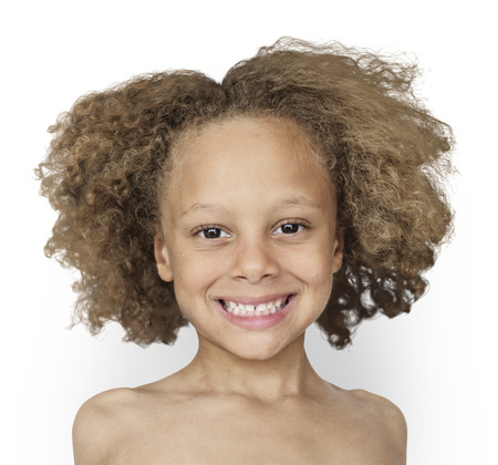 Caucasian Little Boy Bare Chested Shoot Stock Photo