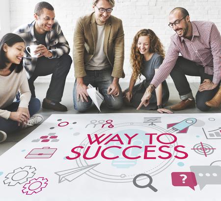 Entrepreneur Expansion Goals Business Development Stock Photo