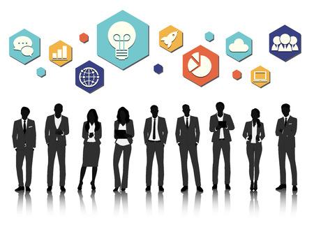 ベクトル UI 図ビジネス人々 コンセプト