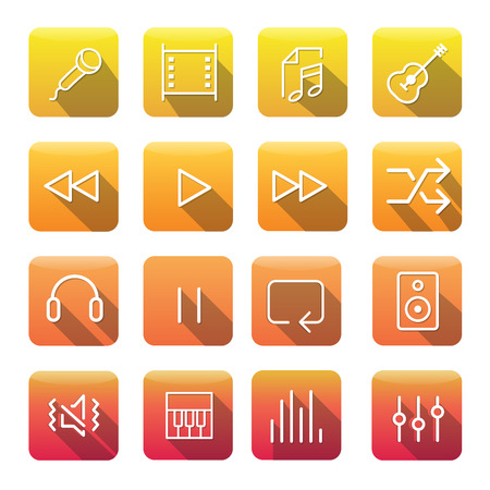 Icon Collection Vector Music Media