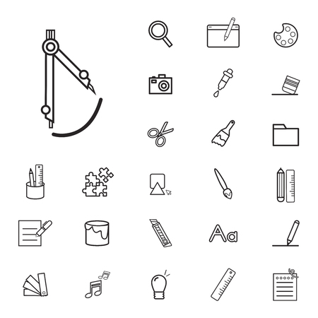 Art icon vector illustration collection