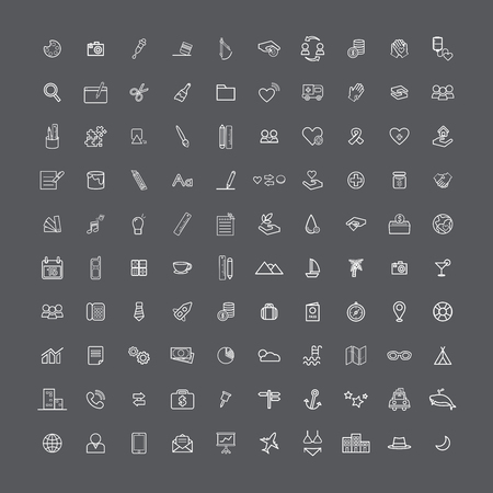 Icon sign graphic set collection Illustration