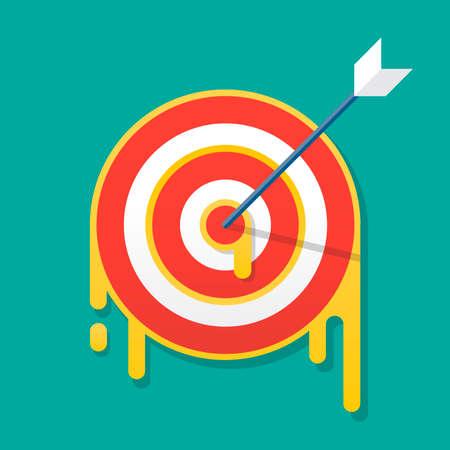 Dartboard target icon vector illustration Illustration