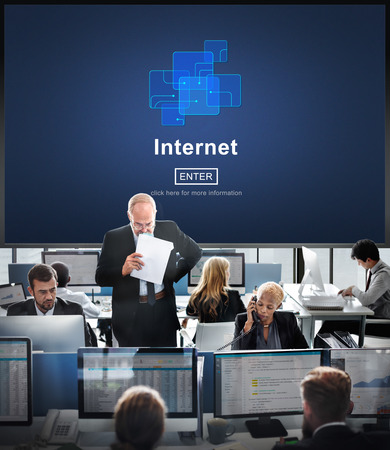 Internet concept in an office