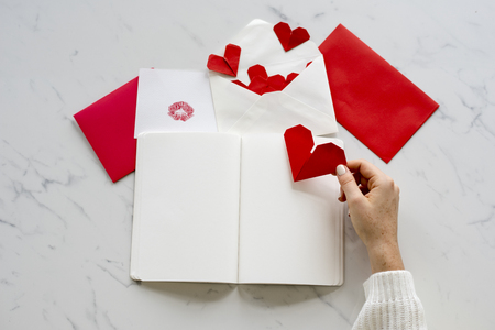 Love Decorated Greeting Cards Paper