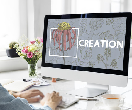 Design Creation Leisure Hobby Ideas Objective Stock Photo