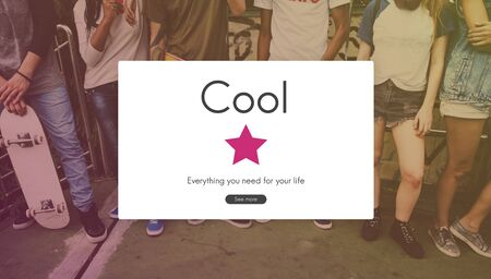 Cool Style Fashion Sense Trendy Reklamní fotografie