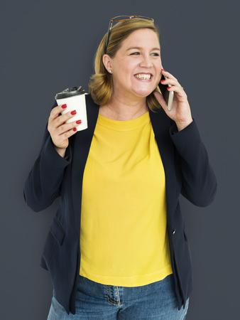 Volwassen vrouw vrouwelijk portret Studio Concept