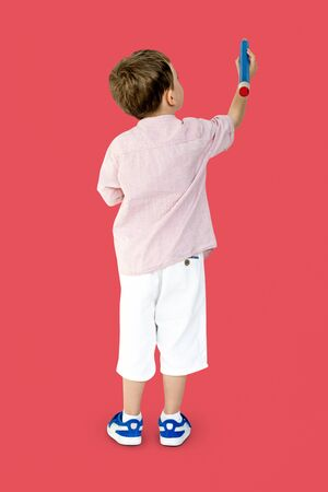 Little Kid Drawing Back View
