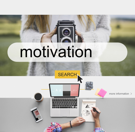 Recreation Motivation Encourage Positivity Mission Stock Photo