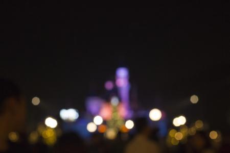 darn: Dark Nightlights Blurry Modern Urban City Stock Photo