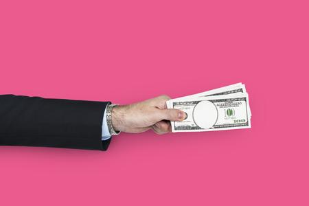 Human Hand Holding Dollar Bill Finance Payment