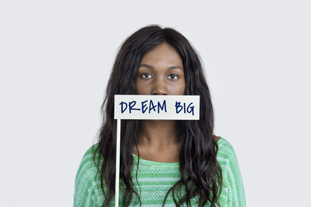 Dream Big Motivation Vision Word Concept Stock Photo