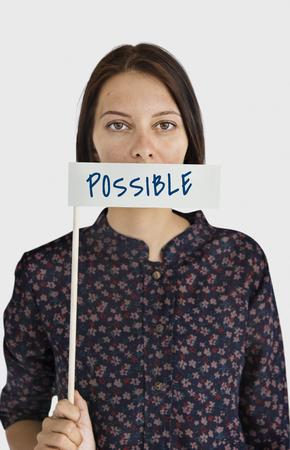 Chance possible Espoir Parole Concept Banque d'images - 75418896
