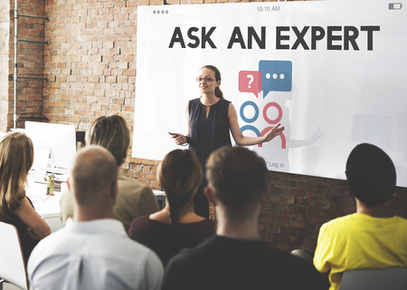 Ask An Expert After Sale Information Фото со стока