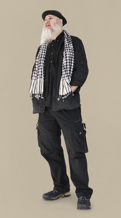 Senior Adult Man Casual Style Portrait