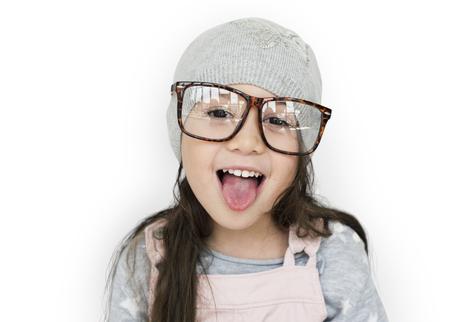 Meisje met plezier portret Stockfoto