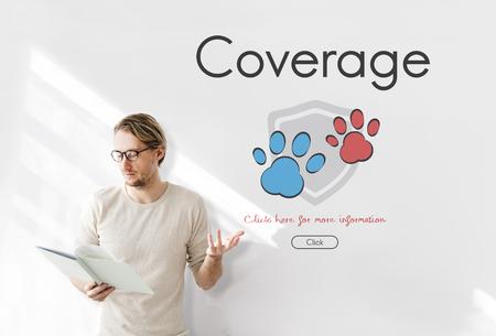 Insurance Coverage Mix Reimbursement Protection Concept Banco de Imagens