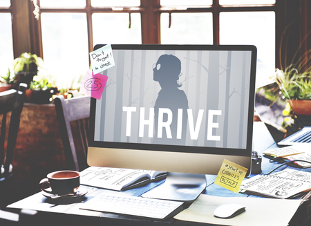 information medium: Be Better Thrive Life Goes On Stock Photo
