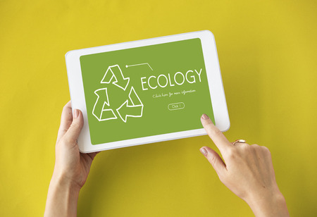 Ecology Recycle World Green Healthy Stock Photo